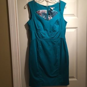 H&M size 12 turquoise dress
